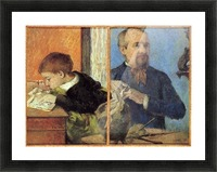 Portrait of Sculptor with Son by Gauguin Picture Frame print
