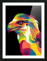 Philippine Eagle Illustration Picture Frame print