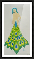 A Cheeky Introduction - First in the Peacock Princess Series Picture Frame print