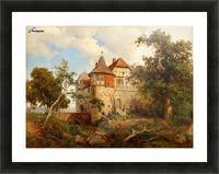 Burg Wohldenberg bei Hildesheim Picture Frame print