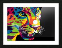 The Jaguar Gaze Picture Frame print