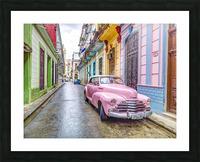 Vintage car on street of Havana, Cuba Picture Frame print