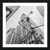 Chrysler Building in New York city Picture Frame print