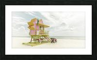 MIAMI BEACH Florida Flair | Vintage Panorama Picture Frame print