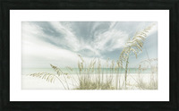 Heavenly calmness on the beach | Panoramic Vintage Picture Frame print