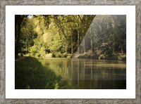 Canal  Carcassone Picture Frame print