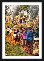 Funeral Feast Procession Bali Picture Frame print