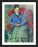 Potrait of Mme Cezanne in Red Armchair by Cezanne Picture Frame print