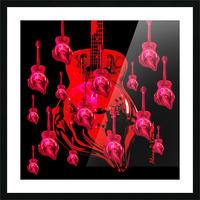 PinkRainBlackVelvet Picture Frame print