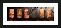 tree bark aBlaze Picture Frame print
