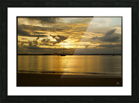 clarence river sunset Picture Frame print