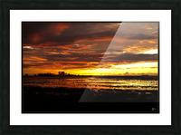granite belt sunset Picture Frame print