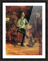 Princeteau in his studio by Toulouse-Lautrec Picture Frame print