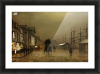 The Dockside Liverpool at Night Picture Frame print