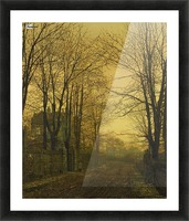Autumn view with figure Picture Frame print
