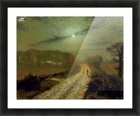 Moonlit Landscape Picture Frame print