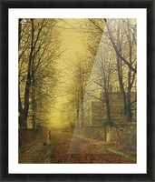 Lady within autumn glow Picture Frame print