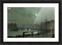 Whitby by moonlight Picture Frame print