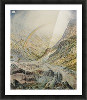 A mountain road, flood time Picture Frame print