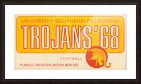 1968 USC Trojans Season Ticket Picture Frame print