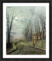 A Wintry Moon Picture Frame print