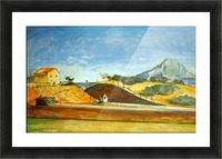 Railway Cutting by Cezanne Picture Frame print
