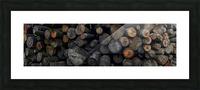 Log Pile Picture Frame print