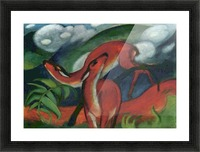 Red Deer II by Franz Marc Picture Frame print