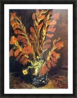 Red Gladioli by Van Gogh Picture Frame print