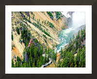 Mighty Yellowstone 3 - Grand Canyon of the Yellowstone River - Yellowstone National Park Picture Frame print