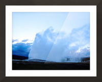 Old Faithful   Yellowstone Picture Frame print