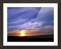 Montana   Sunset Picture Frame print