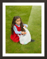 Easter Egg Hunt Girl Picture Frame print