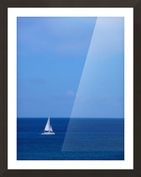 Blue Day - Gallery Artwork of the Year 2017 - Minimalism Picture Frame print