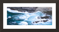 Swirling Blue Seas Picture Frame print
