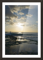 Softly Came the Night Over the Pacific Picture Frame print