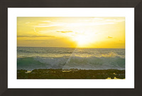 Waves at Sunset Picture Frame print