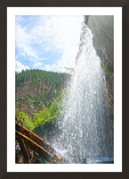 Inside the Waterfall Picture Frame print