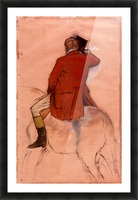 Rider with red jacket by Degas Picture Frame print