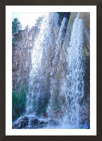 Standing in the Waterfalls Picture Frame print
