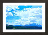 Painted Skies Over the Sawatch Picture Frame print
