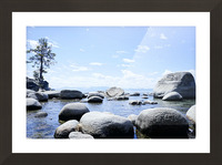 On the Lake - Tahoe California USA Picture Frame print
