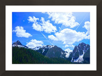 In the Cascade Mountains Picture Frame print