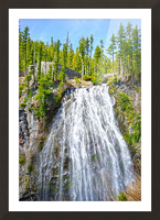 Northwest Waterfall Picture Frame print