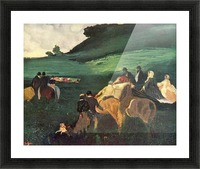 Riders in the  landscape by Degas Picture Frame print