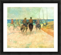 Riding on the Beach 2 by Gauguin Picture Frame print