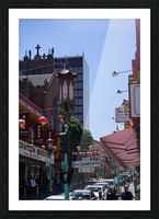 Snapshot in Time Chinatown 2 @ San Francisco Picture Frame print