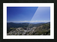 View from the Top Lake Tahoe California Picture Frame print