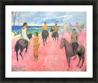 Riding on the beach by Gauguin Picture Frame print