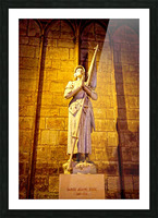 Jeanne d Arc and Saint Croix Cathedral at Orleans   France 4 of 7 Picture Frame print